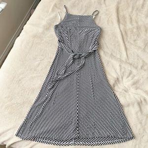 Ann Taylor striped dress with sash